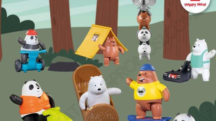 Koleksi Mainan We Bare Bears dan Buku Petualangan Si Kembar Treetop Setiap Pembelian Happy Meal