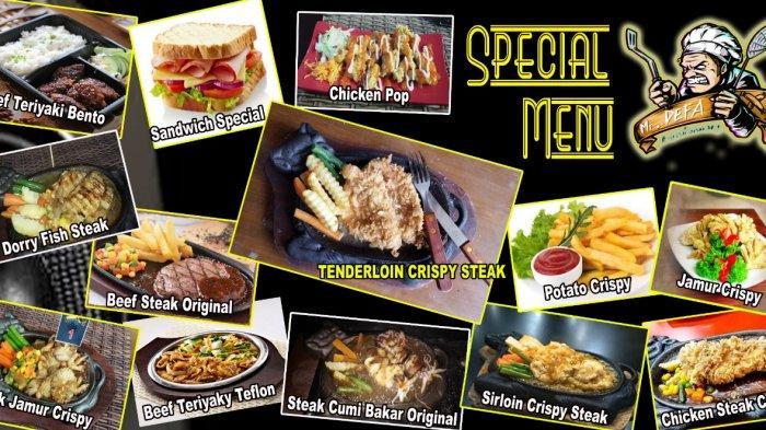 Nikmati Makan Malam Romantis di Mr. Defa Brebes, Steak Ayam Mulai Rp 18 Ribu