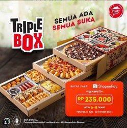 Tawaran Spesial dari Pizza Hut, Take Away Triple Box Paket Lengkap Dapat Cashback Rp 30 Ribu