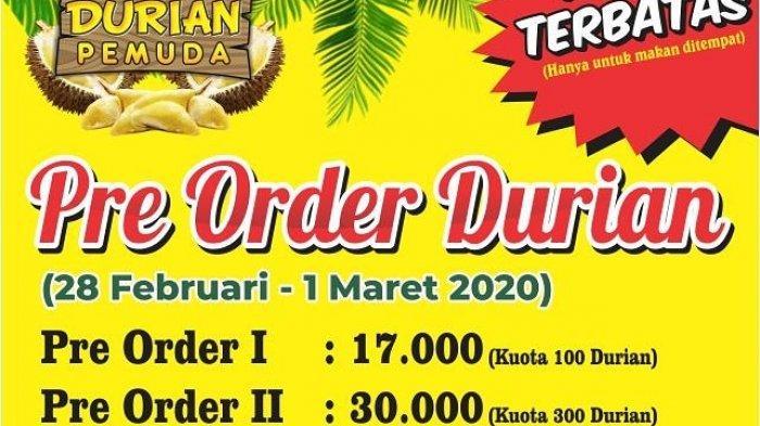 Preorder Durian di Pasar Durian Pemuda Mulai Rp 17 Ribu, Dapat Durian Seberat 1 Kilogram