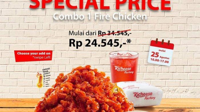 Rasakan Kembali Promo Combo Fire Chicken Richeese Factory Mulai Rp 24.545 Bagi Para Cheesemate