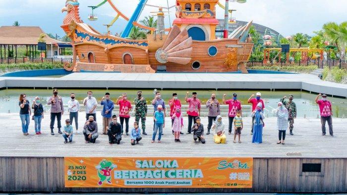 Saloka Berbagi Ceria Bersama Seribu Anak Yatim Kabupaten Semarang