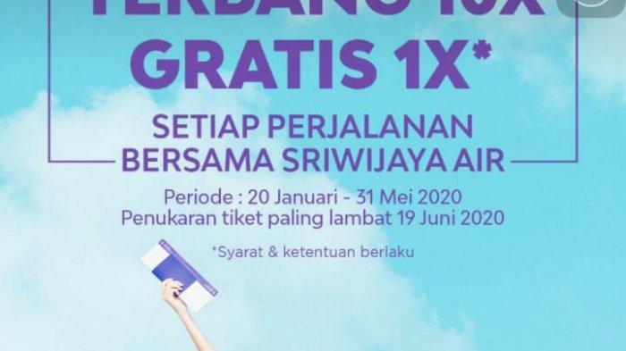 Simpen Tiket dan Boarding Pass Sriwijaya Air, Ada Program Tiket Gratis Untuk 10 Kali Penerbangan