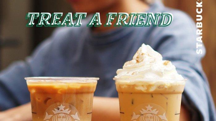 Traktir Temenmu Pake Promo Starbucks Treat a Friend, Diskon 50% Pembelian 2 Minuman Grande Apa Saja