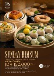 Po Hotel Semarang Tawarkan Nikmati All You Can Eat Sunday Dim Sum di Crystal Palace Restaurant