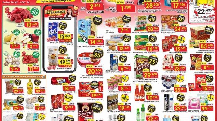 Promo Lion Super Indo Super Segar Awal Pekan Periode 28 September-1 Oktober 2020, Diskon Hingga 30%