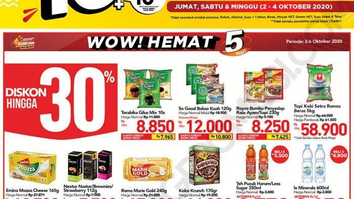 Katalog Promosi Jumat Sabtu Minggu Transmart Carrefour Periode 2-8 Oktober 2020, Diskon 50%+50%