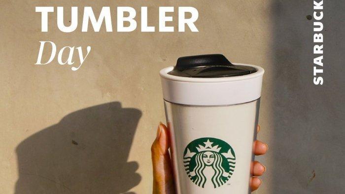 Diskon 50% Untuk Minuman Menggunakan Tumbler Official Starbucks, Hanya Berlaku 1 Hari