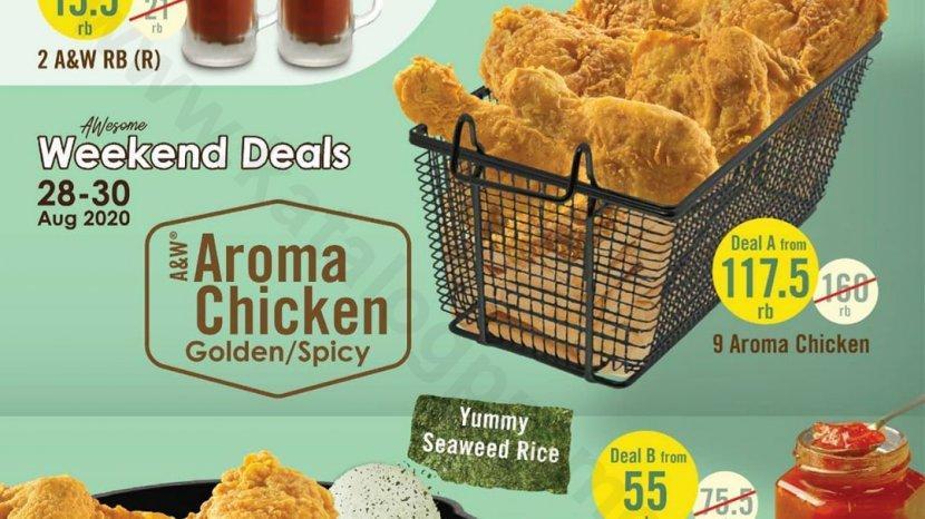 Akhir Pekan Paket Aroma Chicken Golden Atau Spicy A&W Mulai Rp 55 Ribu, Hanya 28-30 Agustus 2020