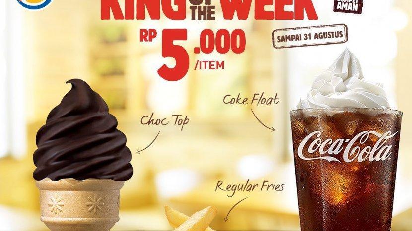 Burger King Promo King of The Week Mulai Rp 5 Ribu Bikin Kantong Aman, Hingga 31 Agustus 2020