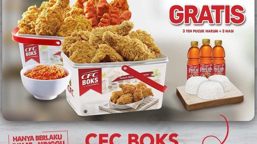 CFC Promo CFC Boks, Hanya Rp 116 Ribu, Khusus Pemesanan Melalui Grabfood dan Gofood