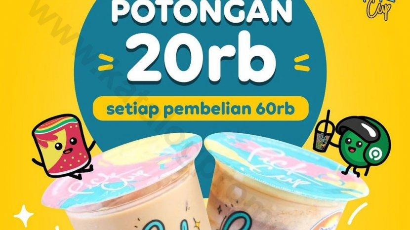 Pick Cup Tawarkan Diskon Rp 20 Ribu Pemesanan Via Gofood, Hanya 7 Oktober-1 Desember 2020
