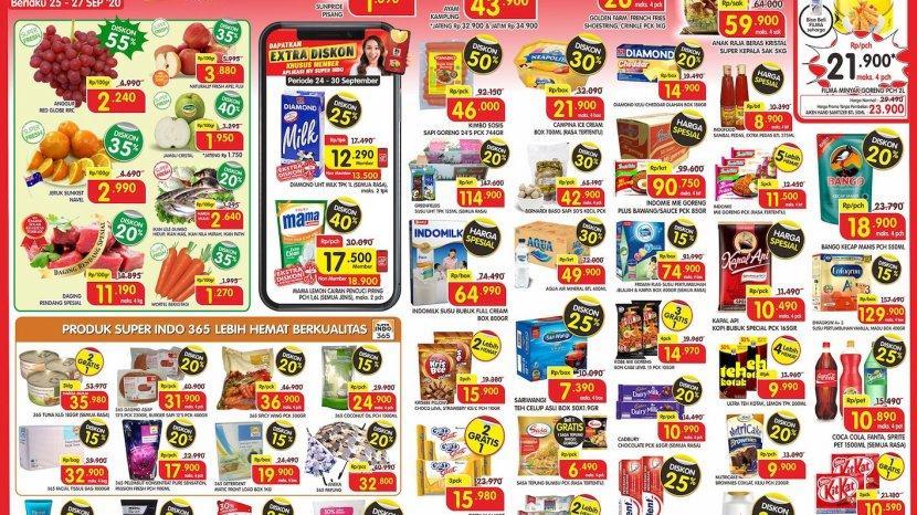 Promo Super Indo Super Segar Periode 25-27 September 2020, Diskon Hingga 50%