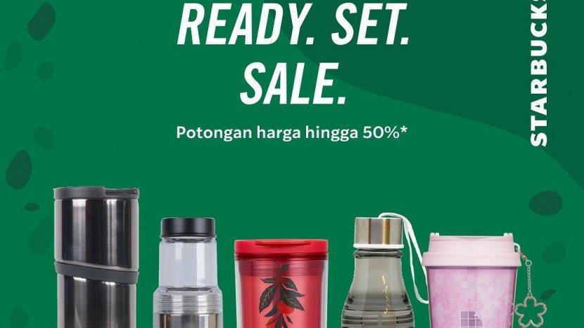 Diskon 50% Pembelian Merchandise Official Starbucks 20-31 Agustus 2020 di Seluruh Gerai Starbucks