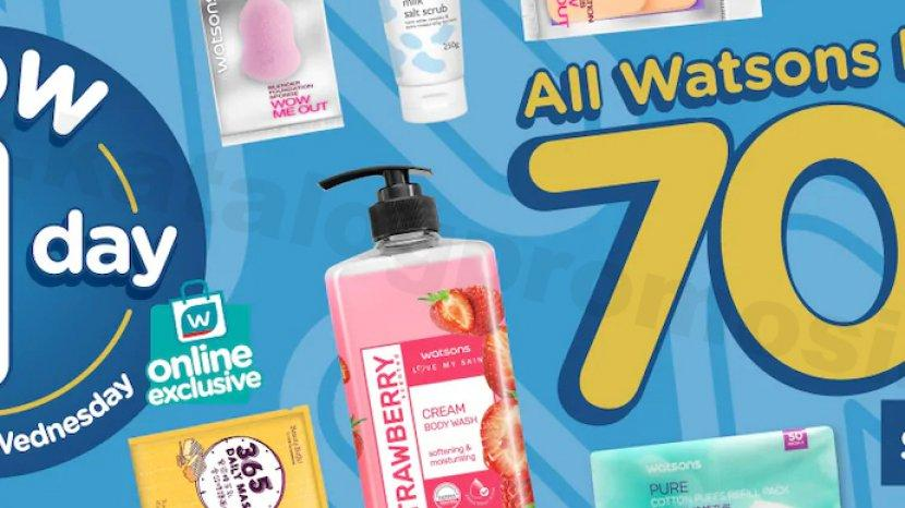 Belanja Hemat di Watsons, Diskon 70% Untuk Semua Brand Watsons, Pembelian di Gerai Maupun Daring