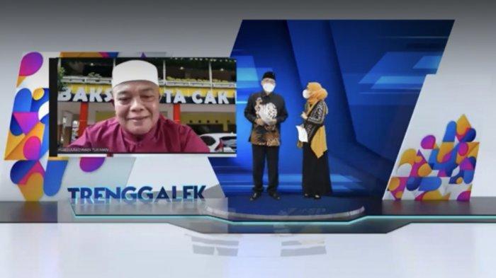 Cak Man berbagi kisah rintis usaha bakso kota saat Webinar HUT ke 782 Kabupaten Trenggalek