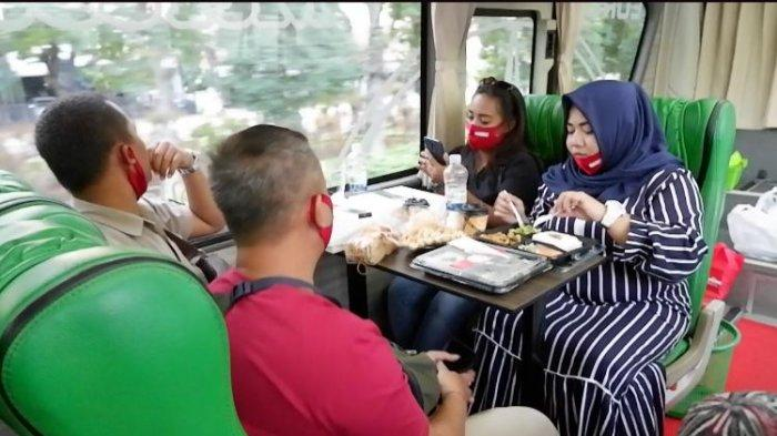 Cara Baru Wisata Kuliner dan Ngopi di dalam Bus Sambil Keliling Kota Surabaya