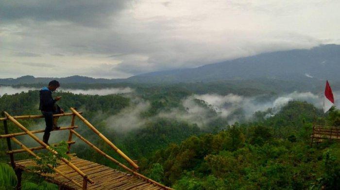 Gumuk Sapu Angin, Rekomendasi Tempat Wisata di Blitar Pemandangan Gunung Kelud di Bukit