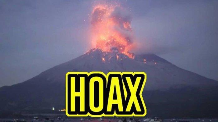 Beredar Video Sebut Letusan Gunung Semeru, TNBTS : Hoax, Itu Erupsi di Gunung Sakurajima