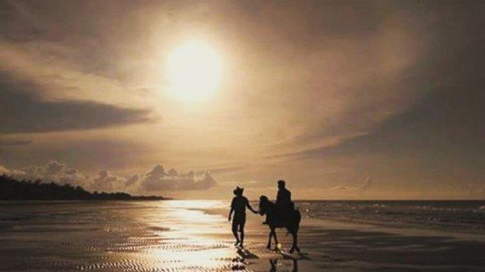 Menengok Hamparan Pasir Putih dan Rindangnya Cemara Udang di Pantai Lombang Sumenep Madura