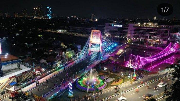 Potret Cantik Jembatan Sawunggaling, Ikon Baru Kota Surabaya Dekat Kebun Binatang Surabaya