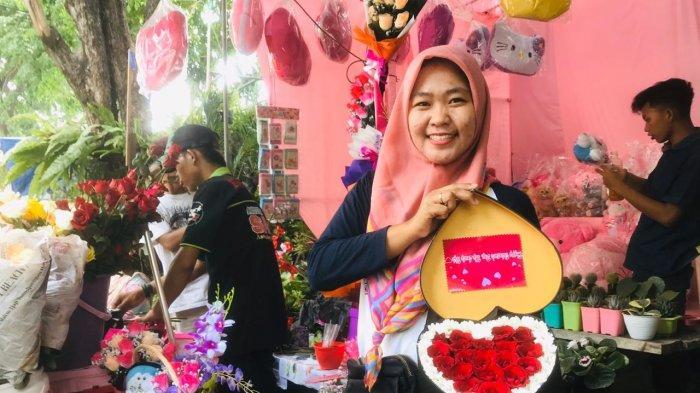 Perayaan Valentine, Penjualan Bunga Mawar di Jalan Kayoon Meningkat