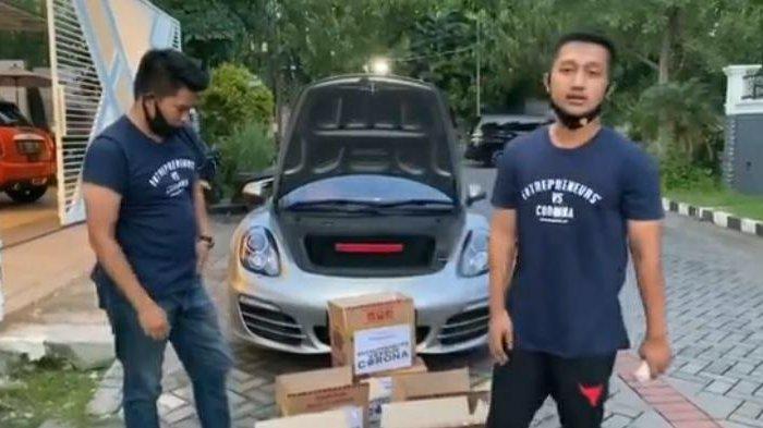 Crazy Rich Surabaya Bagikan Kardus Berisi Uang Jutaan Rupiah dan Sembako di Jalan