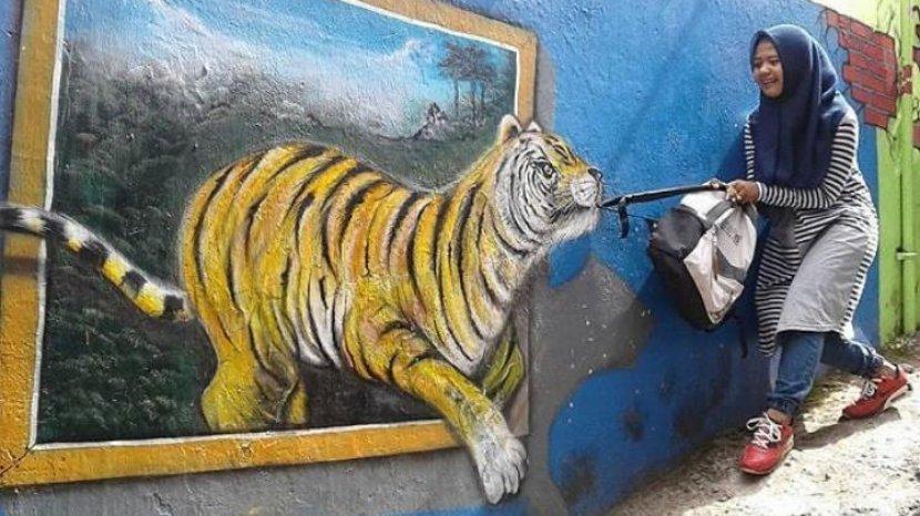 Wisata Kampung 3D Malang, Tempat Wisata Instagramable Pas Dikunjungi Saat Weekend