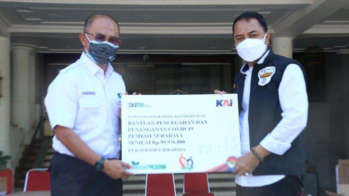 PT KAI Berikan Bantuan Pencegahan Dan Penanganan Covid 19 Ke Pemkot Surabaya Sebesar Rp 99.976.000