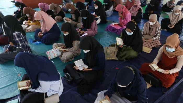 Murid Sekolah Islam Shafta Ikuti Khotmil Qur'an dan Pondok Ramadan dengan Protokol Kesehatan Ketat