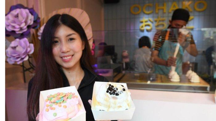 IIncip Souffle Pancake nan Fluffy di Cafe Ochako, Kue Goyang-goyang asal Jepang Bertoping Boba Lava