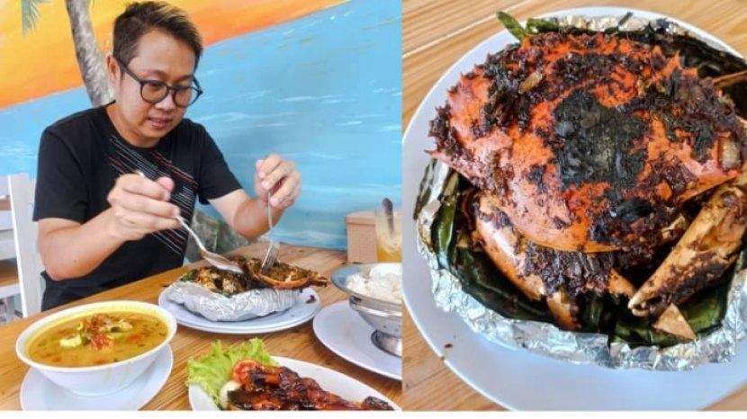Incip Gurihnya Kepiting Bakar Asap dan Sup Palumara yang Kaya Rempah di Kapten Seafood Kediri