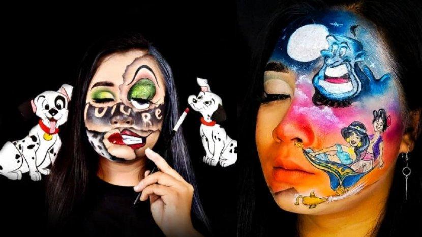 Seniman Ninda Aviv Kenalkan Eksistensi Kartun di Indonesia Lewat Karya Makeup Karakter