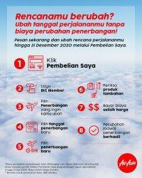 AirAsia Tawarkan Ubah Jadwal Tanpa Biaya Perubahan Sampai Akhir Tahun 2020