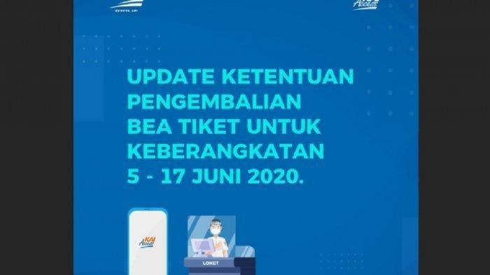 Catat, KAI Perpanjang Pengembalian Uang TIket Sampai 17 Juni 2020