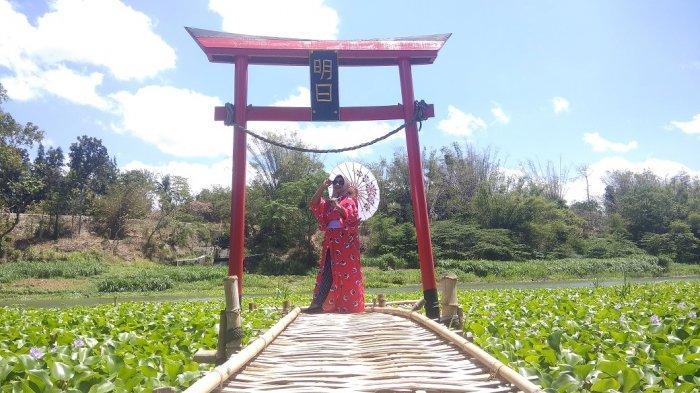 Wisata Selfie ala Negeri Sakura di Pinggiran Sungai Opak Bantul