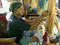 Unik, Limbah Kayu Dijadikan Lukisan oleh Warga Gunungkidul
