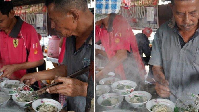 Warung Mie Ayam Pak Suro Klaten, Kali Pertama Buka Semangkuk Cuma Rp300