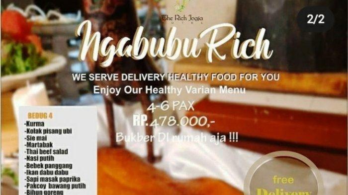 'NgabubuRich' The Rich Jogja Hotel, Menu Buka di Rumah Aja