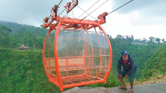 Gondola Wisata di Lereng Gunung Merapi Klaten, Melintas di Jurang sedalam 150 meter