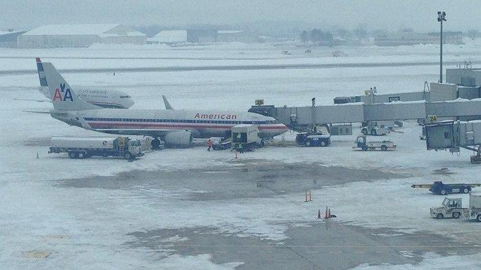 Diterjang Badai Salju, Ribuan Penerbangan di Area New York Terpaksa Dibatalkan