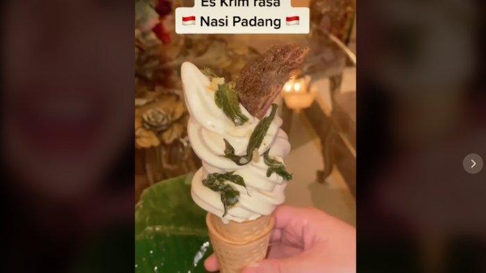 Video Viral Es Krim dari Nasi Padang, Ini Kata Ahli Gizi