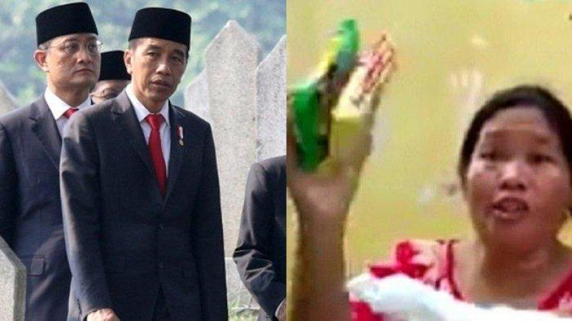 Emak-emak Ngamuk Sebut Nama Jokowi, Cuma Dapat Mie Instan 2 Bungkus dan Beras 1 Liter