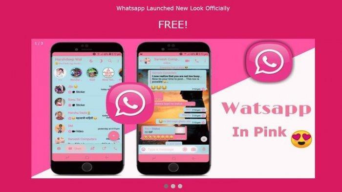 Hati-hati WhatsApp Pink, Aplikasi Palsu Pembobol Data