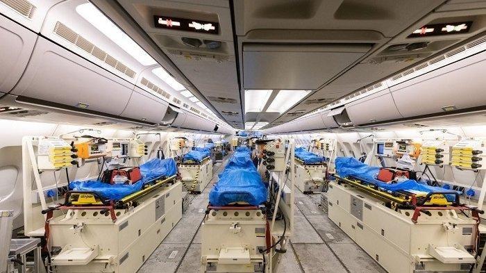 Tangani Pasien Covid, Jerman Ubah Pesawat Airbus Diubah Jadi Ambulans Udara