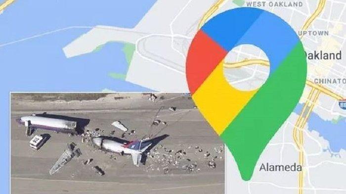 Google Maps Rekam Badan Pesawat yang Terbelah Dua, Apa yang Terjadi?