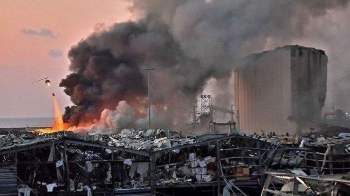 Ledakan Dahsyat di Kota Beirut Lebanon, Diduga Akibat Ribuan Ton Bahan Peledak