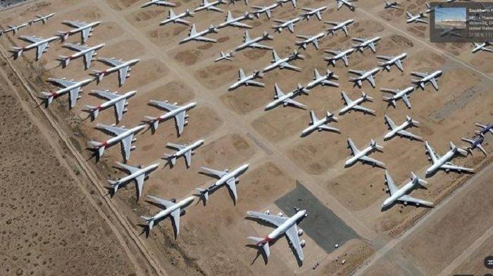 Penampakan Sejumlah Pesawat Berada di Tempat Tak Semestinya
