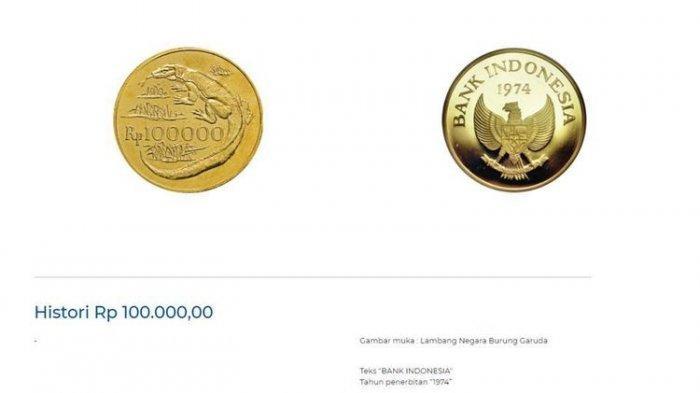 Uang Logam Rp 100.000 Terbuat dari Emas 33 Gram, Ini Penjelasan Bank Indonesia