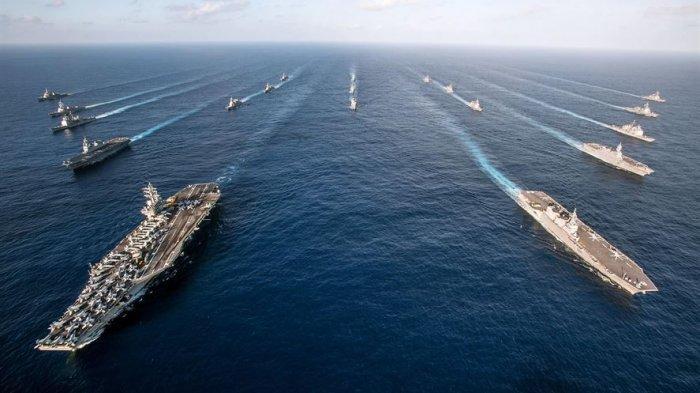 Kapal Perang AS Beri Sinyal, Tantang China dengan Berlayar di Kepulauan Laut China Selatan